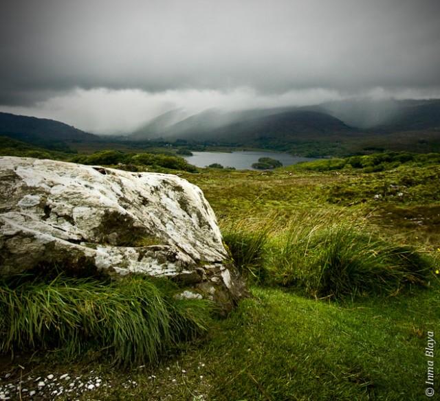 Lago desde la roca