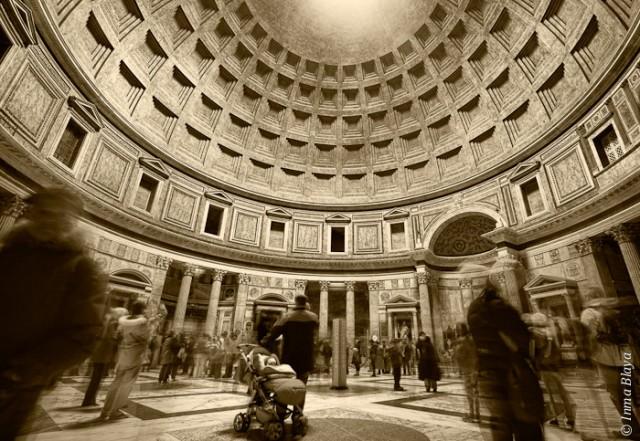 Fotografía del interior del Panteón de Agripa, en Roma