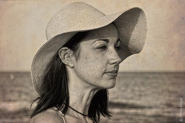 Sonia en la playa