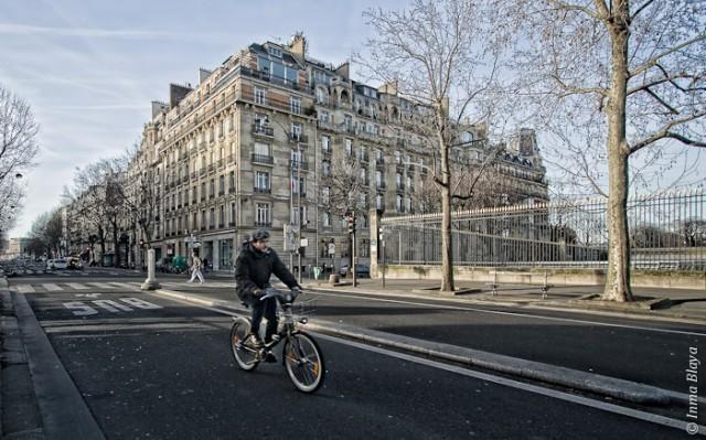Parisino en bicicleta