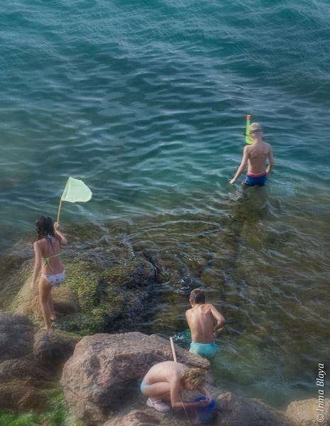 Pequeños a la pesca